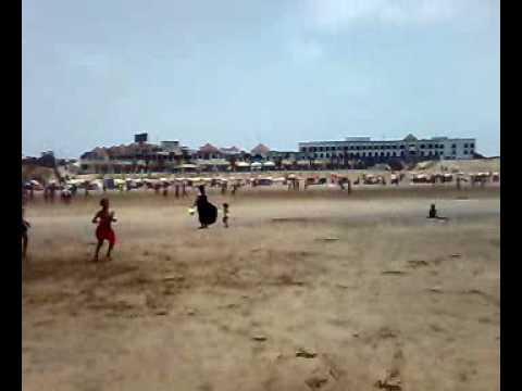 Beach fighting in Morocco