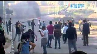 درعا 5 - مظاهرات تشييع الشهداء في درعا 19-3-2011