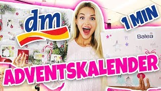 Ich öffne ALLE DM ADVENTSKALENDER in 1 MINUTE | XXL UNBOXING essence, balea, alverde, ..