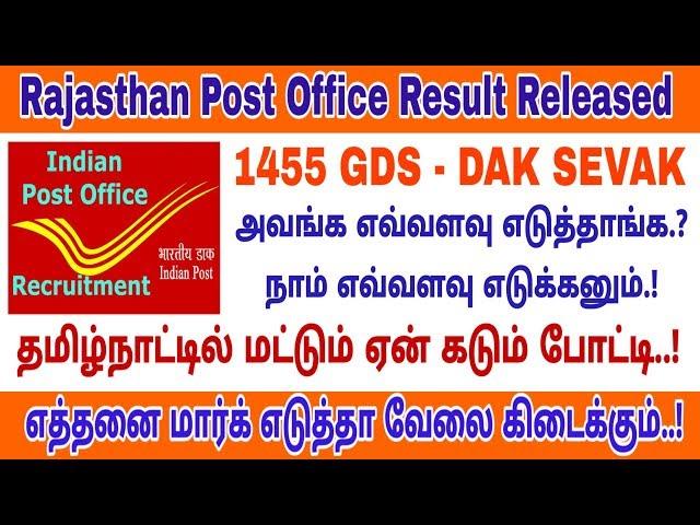Download thumbnail for Rajasthan Postal Circle GDS 2019