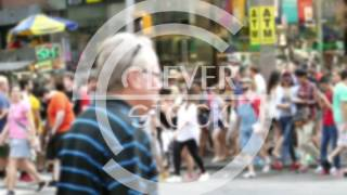 New York City Crowd Walking Street Times Square Blurred Motion Manhattan Pedestrians Tourism USA