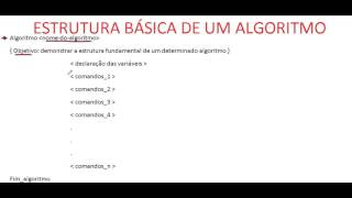 Curso de Scilab LÓGICA DE PROGRAMAÇÃO Estrutura básica de um algoritmo