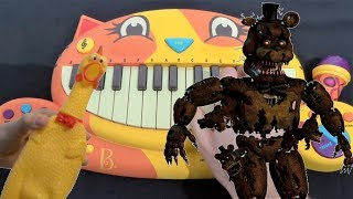 FNAF 4 SONG - BREAK MY MIND (CAT PIANO, CHICKEN AND DRUM CALCULATOR COVER) DA GAMES
