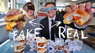White Castle IMPOSSIBLE (fake) Burger vs. REAL Burger