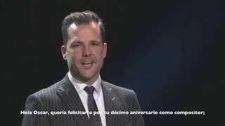 """Yves Segers saluda a Oscar Navarro """"CONCIERTO X ANIVERSARIO OSCAR NAVARRO"""""""