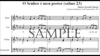 O senhor é meu pastor, Tarcízio Morais (instrumental/partitura)