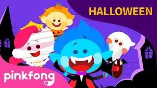 Diez Pequeños Niños Misteriosos | Canciones de Halloween | Pinkfong Canciones Infantiles