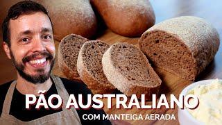 PÃO AUSTRALIANO (com manteiga aerada): Receita de pão macio com farinha integral e mel