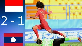 Indonesia Vs Laos (2   1) | Aff U 18 2019