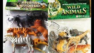 animali selvaggio (natura) giocattolo - leone tigre elefante coccodrillo zebra giraffa