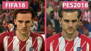 FIFA 18 vs. PES 2018 – Graphics Comparison 4K