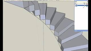 jorge camilo modelado de una escalera caracolwmv