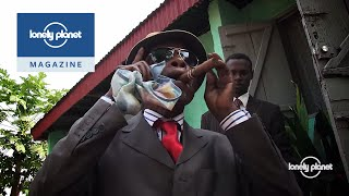Walking with the fashion kings of the Congo -- Lonely Planet travel videos