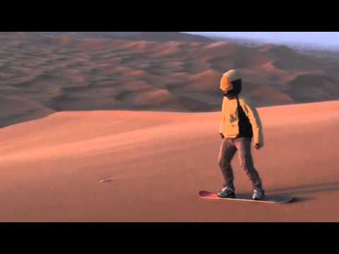 Morocco sandboarding fail – Merzouga Erg Chebbi April 2012