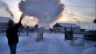 -56°C (-69°F) from Yakutsk to Oymyakon in winter - THE MOVIE [HD] 2015 width=