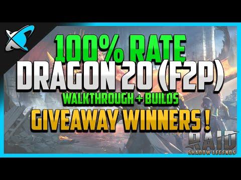 RAID: Shadow Legends | 100% WIN RATE DRAGON 20 | Walkthrough + Builds | F2P