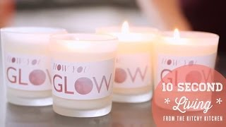DIY Rose, Lavender, and Green Tea Candles // 10 Second Living with How You Glow