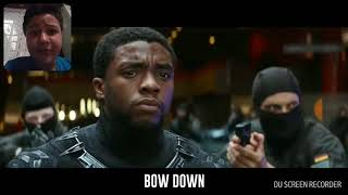 Reaction video to (black panther)(respect my throne)