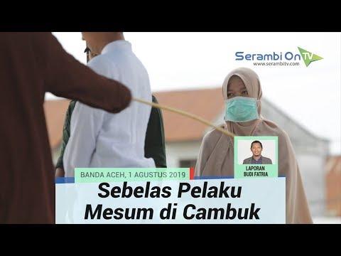 Download Video Sebelas Pelaku Mesum Jalani Hukuman Cambuk Di Banda Aceh