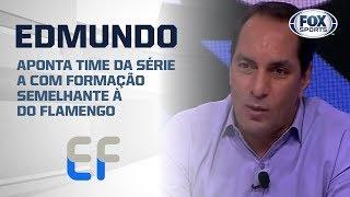 'PLAGIANDO' JORGE JESUS? Edmundo aponta time da série A com formação semelhante à do Flamengo