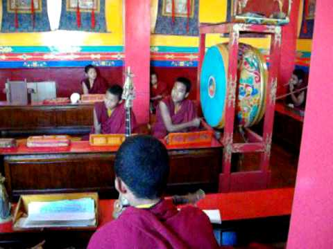 0911 Nepal Monkey temple monks.AVI