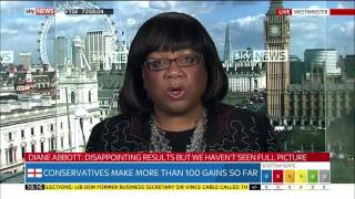 Diane Abbott on the Local Election Results 05/05/2017 (Sky)