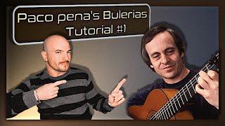 Bulerias guitar Tutorial by Paco Pena part 1