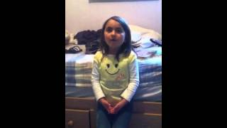 Somewhere over the rainbow, cute girl singing