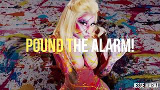 Nicki Minaj - Pound The Alarm (Lyrics Video)