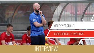 """Screenshot van video Jurjan Wouda: """"Niet tevreden over de manier waarop we de goals weggeven""""   Excelsior'31 - Flevo Boys"""