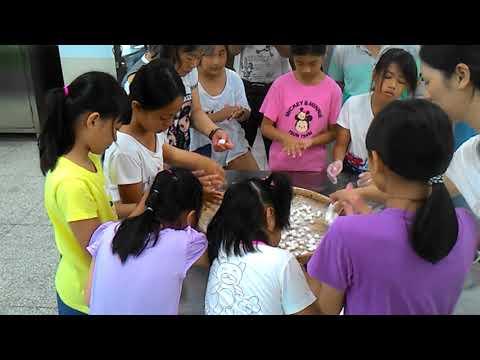 花蓮縣中正國小403班親會食農教育及米食製作搓湯圓和包菜包體驗 4 - YouTube