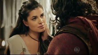 'A Terra Prometida' - Josué diz que vai se casar com Aruna e Samara desmaia