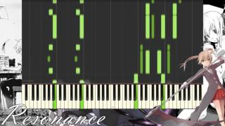 [Synthesia] Animenz - Resonance (Piano Tutorial) Soul Eater OP