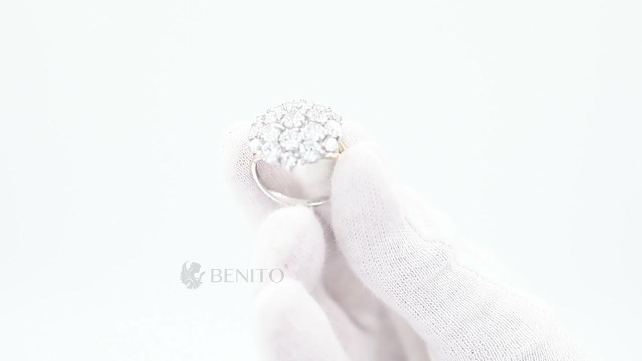 Fabrizia Ring White Zircon Stones