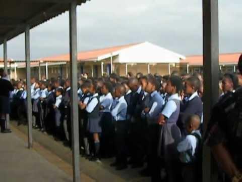 Volunteer Julie shares morning singing in Jo Slovo School South Africa