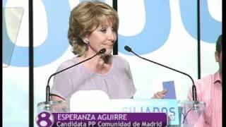 Esperanza Aguirre en un mitin en Fuenlabrada apoya al candidato local