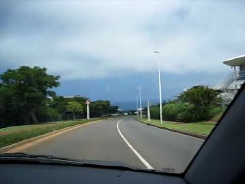 Driving around Gateway Mall in Durban South Africa