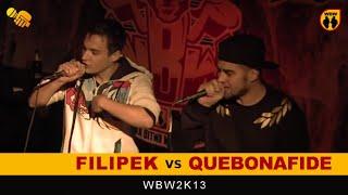 FILIPEK vs QUEBONAFIDE 🎤 WBW 2013 🎤 Freestyle Battle