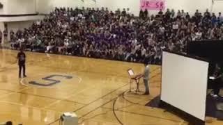 When it's Still D-R-E at a High School Pep Rally