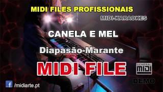 ♬ Midi file  - CANELA E MEL - Diapasão-Marante
