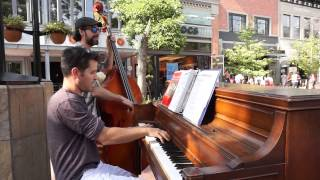 Piano and Bass at the Pearl St Mall in Boulder