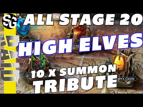 RAID SHADOW LEGENDS | HIGH ELF CLEAR ALL STAGE 20 | 10X SUMMON ONLY CHAMPS