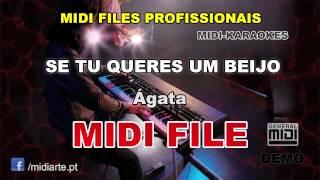 ♬ Midi file  - SE TU QUERES UM BEIJO - Ágata