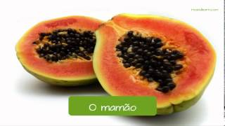 Fruits in Portuguese. Learn Portuguese, A Dica do Dia.