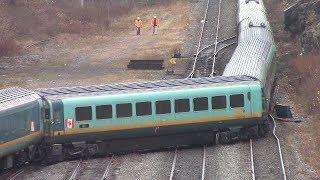 Derailment! VIA Rail Ocean Pasenger Train Derailed at Halifax, NS