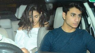Sara And Ibrahim Attend Father Saif Ali Khan's Birthday Bash