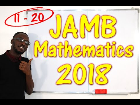 JAMB CBT Mathematics 2018 Past Questions 11 - 20