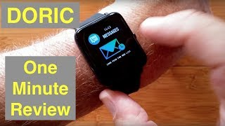 COLMI Doric Health Fitness IP67 Waterproof Blood Pressure Smartwatch: One Minute Overview