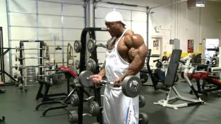 Phil Heath Triceps & Biceps Workout Clips.flv
