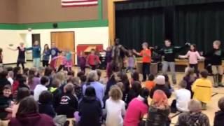 Kids learn African dance